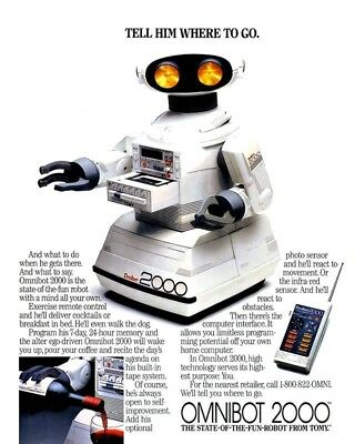 Tell Him Where To Go Omnibot 2000 8X10 Vintage Ad 488160917