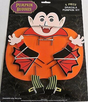 HALLOWEEN PUMPKIN BUDDIES  5 Pieces  DRACULA