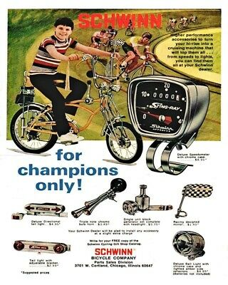 Schwinn Bicycle For Champions Only 8X10 Vintage Ad 435160917