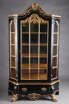 Dutch Display Cases Wardrobe IN THE BAROQUE STYLE EBONISED
