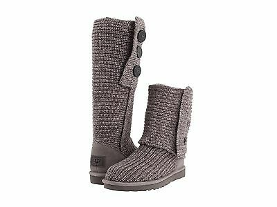 Women's Shoes UGG Classic Cardy Knit Boots 1016555 Grey 5 6 7 8 9 10  *New*