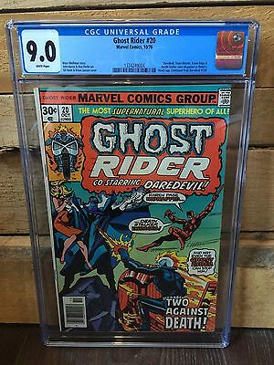 Ghost Rider #20 Cgc 9.0 Vf/nm Wp Daredevil App Gil Kane & Klaus Janson Cover