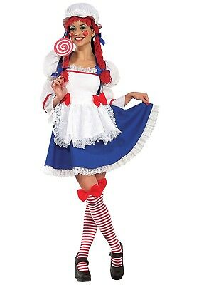 ADULT CHEERFUL RAG DOLL COSTUME SIZE XS (with defect)