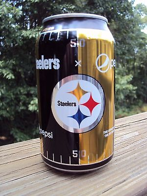 LIMITED EDITION 2017 PITTSBURGH STEELERS / PEPSI COLA. 12 oz can / STEELERS NFL