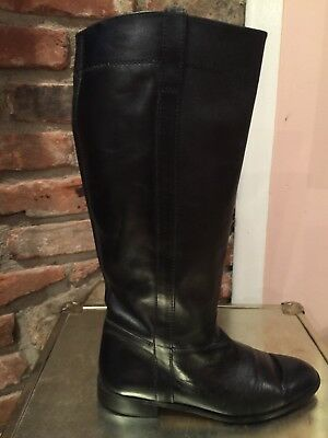 Ridding Boots Knee High Black Leather Womens Sz 8