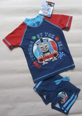 Bnwt Thomas The Tank Engine Boys Swimmers Swimming Costumes Set - Size 1 - 4