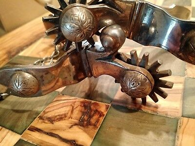 "Antique Nels Qualey Spurs ""Grangeville Idaho Estate"""