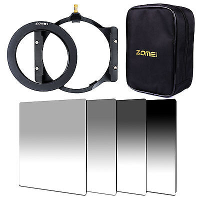 ZOMEI Gradual ND2 4 8 16 Square filter kit+77mm ring+holder+Bag For Cokin Z-Pro