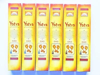 Yatra Natural Incense Sticks 15g x6 Box Pack, Parimal Brand High Quality Incense
