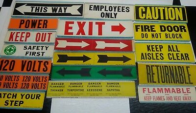 Vintage Industrial safety stickers lot of 18
