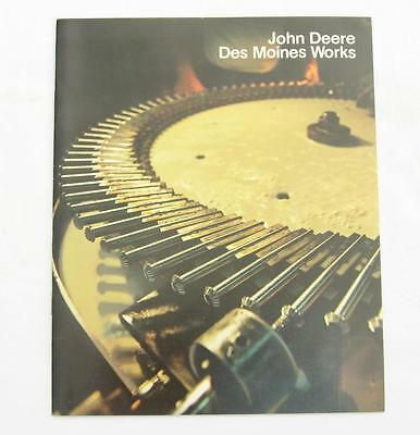 VTG John Deere Des Moines Works Plant Tour Brochure 1980 Factory Booklet Iowa IA
