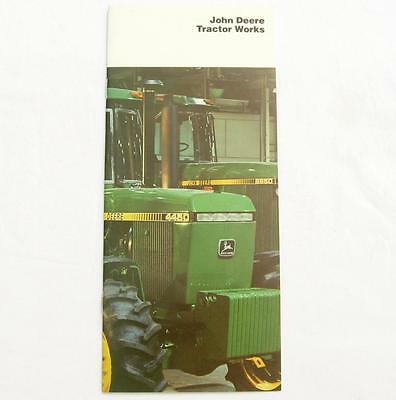VTG John Deere Tractor Works Brochure Pamphlet 1982 Factory Plant Waterloo IA