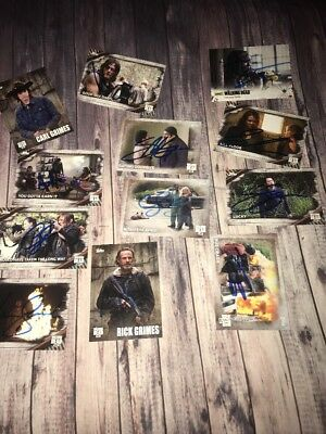 12 Signed Walking Dead  Cards lot  Bidding On All 12 Autograph