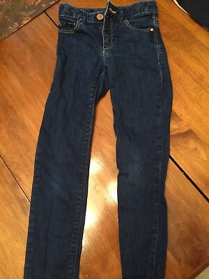 Gapkids 1969 Dark Denim Jeans Super Skinny Size 7 Adjustable Waist