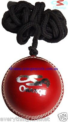 TRAINING HANGING (HANG) RED Cricket Ball by ORANGE SPORTS + AU STOCK