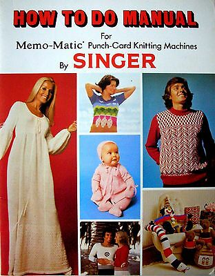 HOW TO DO MANUAL for Singer Memo-Matic' Punch Card Knitting Machines - VGC