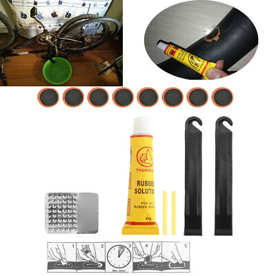 Bicycle Tire Repair Kit Tool Set Metal Rasp Tyre Lever Bike Repair Kit Patch