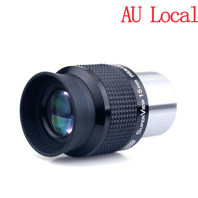 "1.25""/31.7mm Wide Angle 15mm Telescope Eyepiece FMC Lens for Astronomy AU Ship"