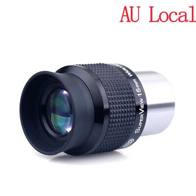 """1.25""""/31.7mm Wide Angle 15mm Telescope Eyepieces FMC Lens for Astronomy AU Ship"""