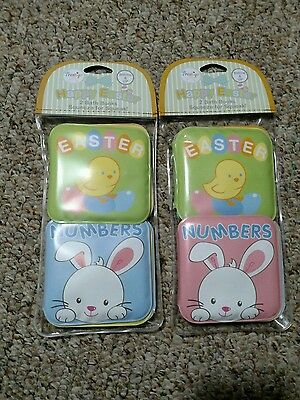 Happy Easter Baby Bath Squeak soft Books set of two - pink or blue. Free s/h