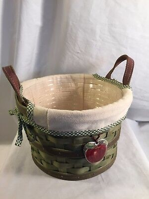 2005 Longaberger Small Round Apple Basket!!