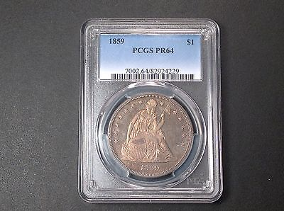 1859  PCGS PR64 Seated Liberty Dollar