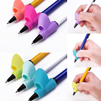 1/3X Kids Pencil Gripper Holder Hand Writing Aid Posture Correction Device Tool