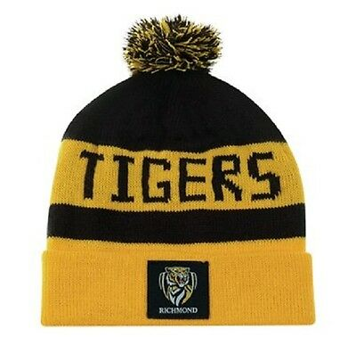 Afl Richmond Tigers Traditional Bar Beanie - Brand New