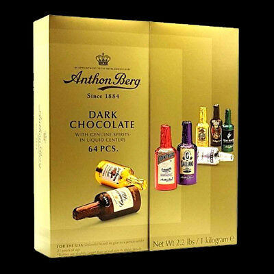 Anthon Berg 64pcs Dark Chocolate Liqueurs with genuine spirits Liquor chocolate.