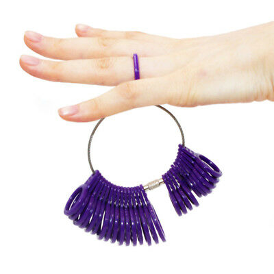 1 PC Measure Finger Sizer Ring Gauge For Wedding Ring All UK Sizes A-Z 5 Colors