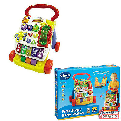 VTech First Steps Baby Walker Interactive Teaches Shapes Color Numbers Words Toy