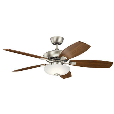 "Kichler 330013NI Canfield Pro 52"" Ceiling Fan With Light In Brushed Nickel"