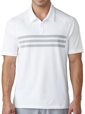 Adidas Climacool 3-Stripes Competition Polo - White/Mid Grey