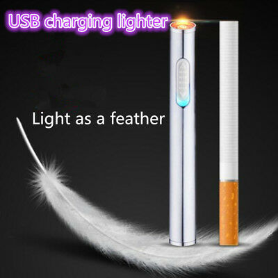 USB charging Windproof flameless Mini Thin No gas Electronic Cigarette lighters
