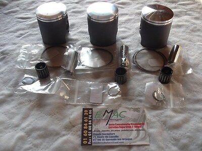 kawasaki 350 s2 s2a 350s2 kit piston complet X 3,4 cotes disponibles 53mm a 54,5