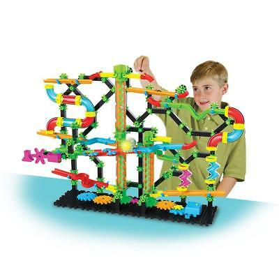 Children Kids Construction Toy Building Marble Run Maze Set LED Lights 8+ Years