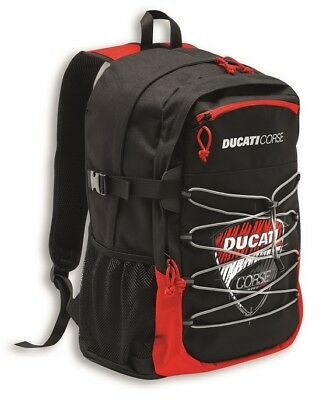 Ducati Corse Sketch Backpack Backpack Black Red New 2018