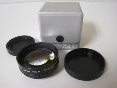 Kenko Tele Conversion Lens X1.4 Kmt-14 49Mm Filter Threat 1.4X Mint In Box Used