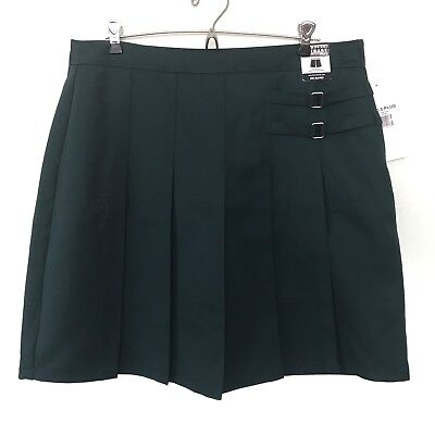 NEW French Toast Green 2 Tab Scooter Skirt Skort GIRLS PLUS SIZE 20 20.5 Uniform