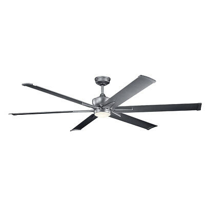 "Kichler 300301WSP Szeplo Patio 80"" Outdoor Ceiling Fan With Light In Weathere..."