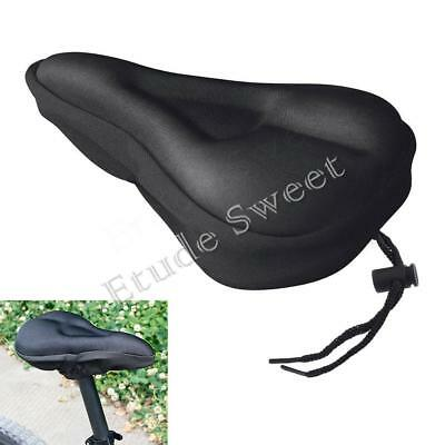Bike Bicycle Cycle Saddle Seat Pad Cushion Cover Extra Comfort Silicone Gel