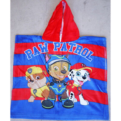 Kids Children Boys Hooded Hoodie Paw patrol Bath Beach Towel Poncho 100% Cotton