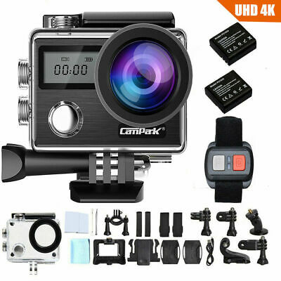 Campark 4K Sports Action Camera Touch Screen WiFi 20MP Waterproof Remote Control