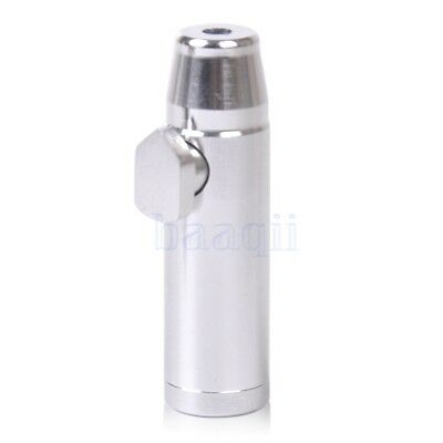 Metal Bullet Snuff Portable Mini Dispenser Snorter Rocket Shape Durable DA