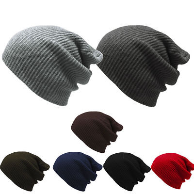 HOT Men Women Fashion Knit Baggy Beanie Oversize Winter Hat Ski Slouchy Chic Cap