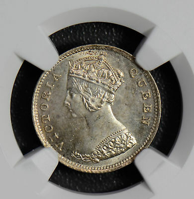 NG0460 Hong Kong 1895 10 Cents silver NGC MS64 rare in this grade combine shippi