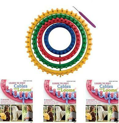 4pcs Round Knitting Knitter Plastic Loom Kit DIY Crochet Sock Scarf Hat Maker OZ