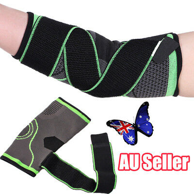 Adjustable Elbow Arm Support Brace Strap Protect Gym Sports Tennis Basketball BO