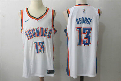 Men's Paul George #13 Oklahoma City Thunder Swingman Stitched Basketball Jersey