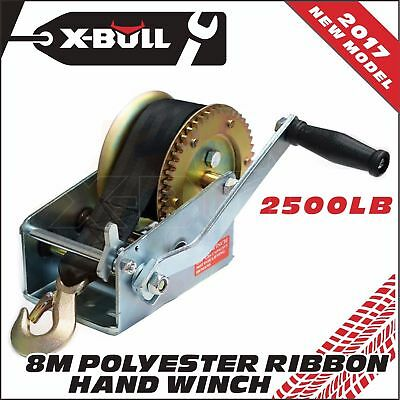 X-BULL 2500LBS/1136KGS 2-Speed Strap Hand Winch For 4WD, Trailer and Boat